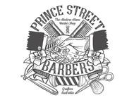 Prince Street Barbers - illustration Logo Design