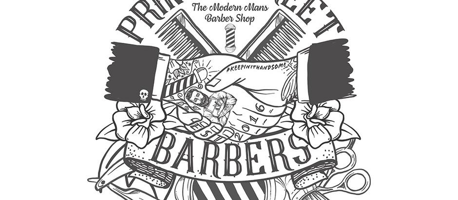 BARBERSHOP ILLUSTRATION - Design work for Prince Street Barbers