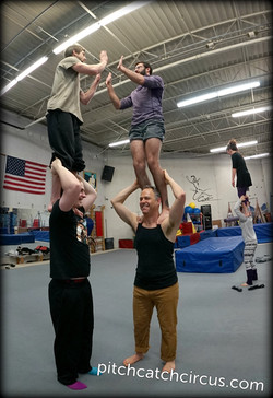 School yard antics in circus school.
