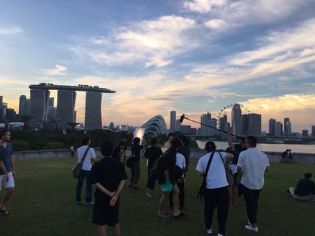 斎藤工さんのシンガポール撮影