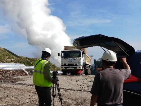 インドネシア発電所の撮影
