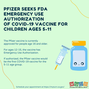 Pfizer seeks FDA authorization of COVID-19 Vaccine for children ages 5-11
