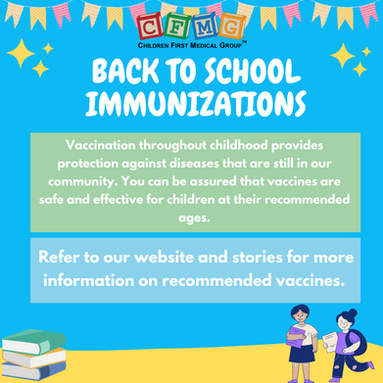 Back to school immunizations!