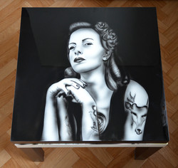 Table Peinture Personnalisée