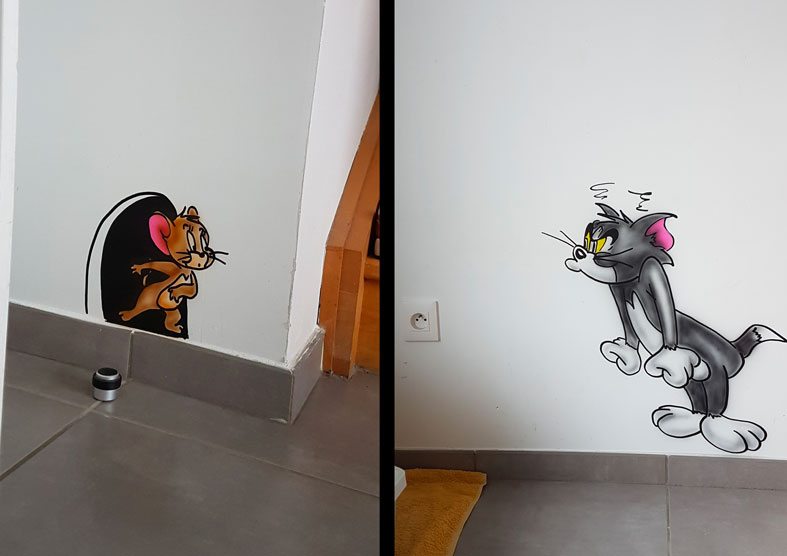 Graff Mur Tom & Jerry