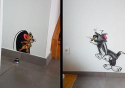 Graff Mur Tom & Jerry