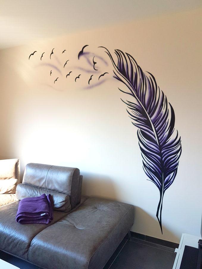 Graff Mur Plume
