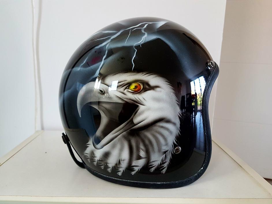 Casque moto Jet personnalisé