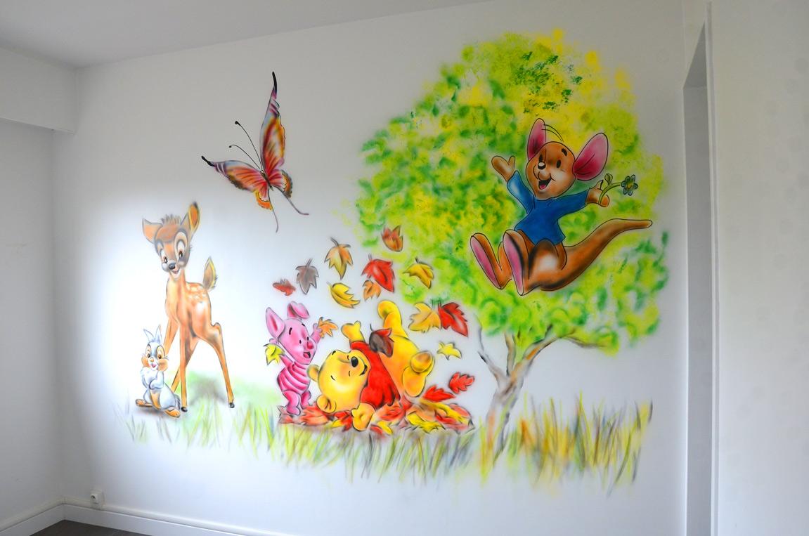 graff mur disney winnie