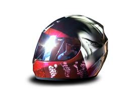 Casque moto métal flake profil
