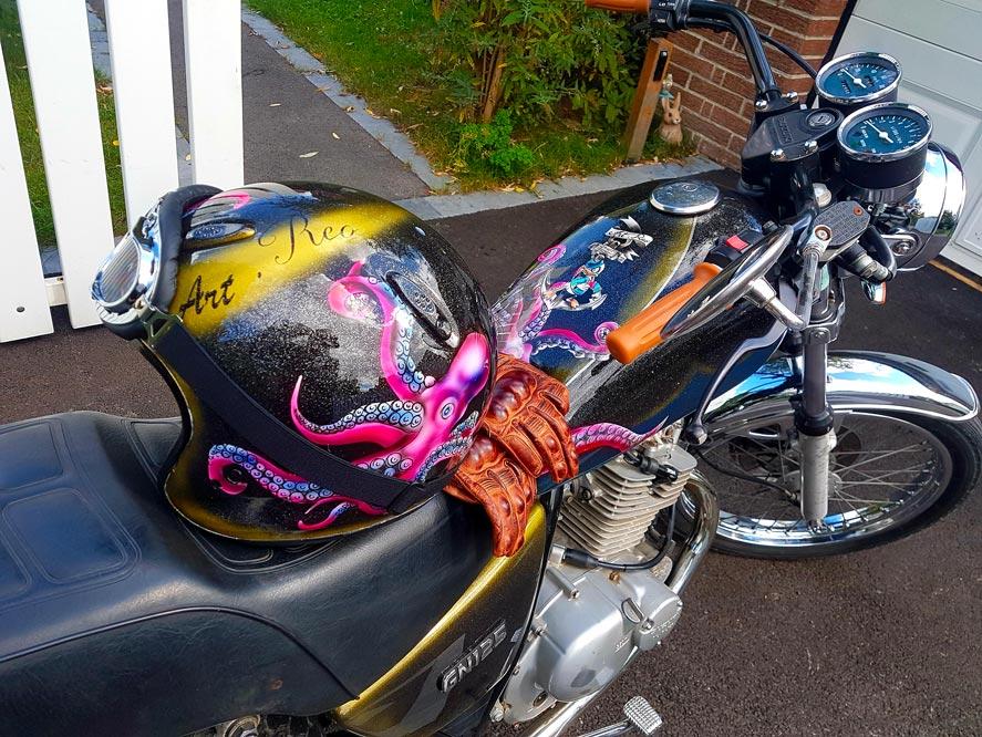moto 125 + casque