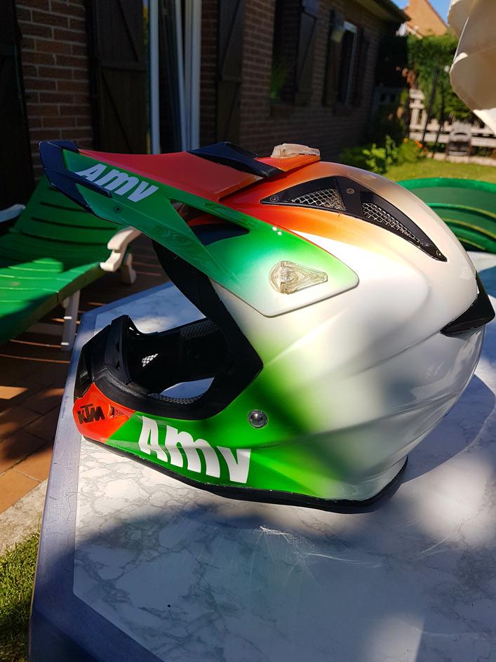 Casque moto cross personnalisé