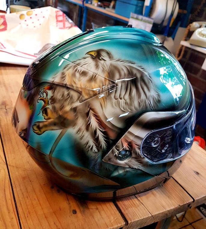 Casque moto intégral personnalisé