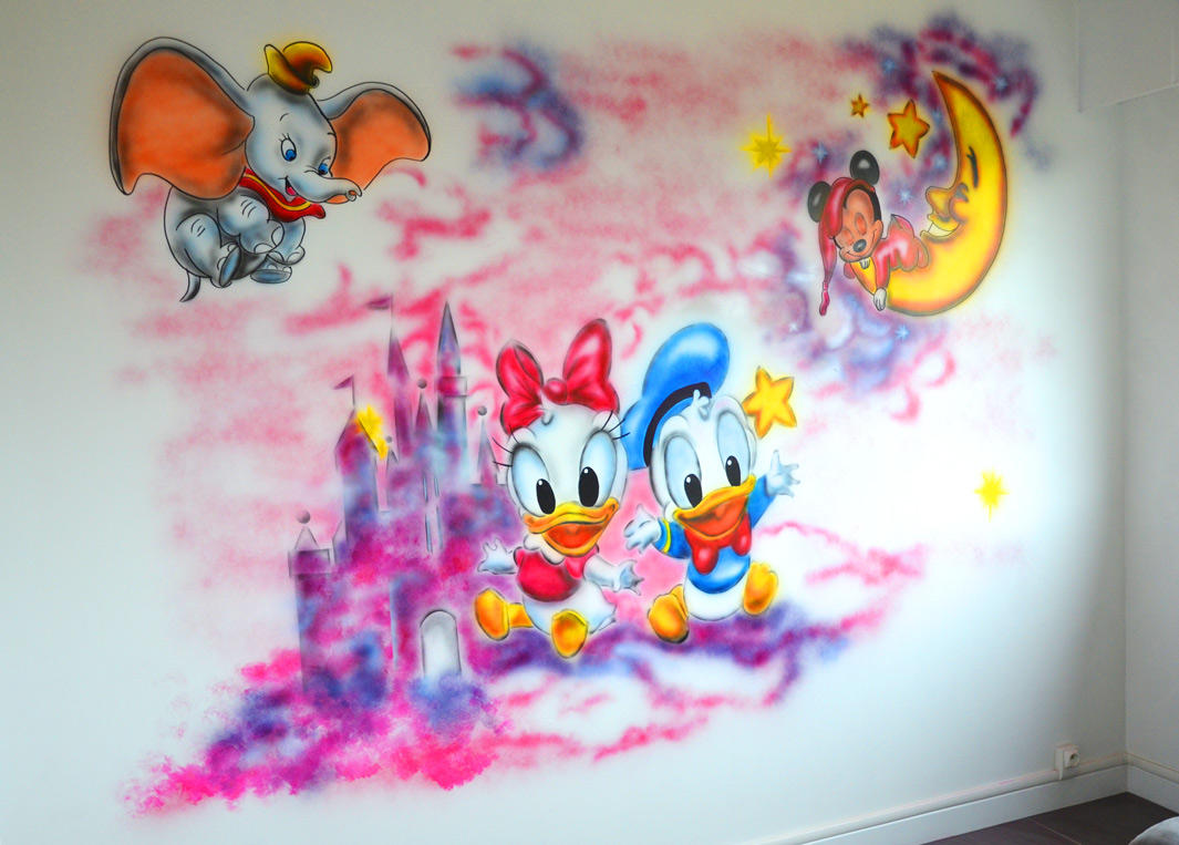 graff mur disney donald