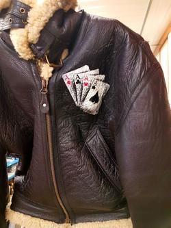 Veste en cuir personnalisée
