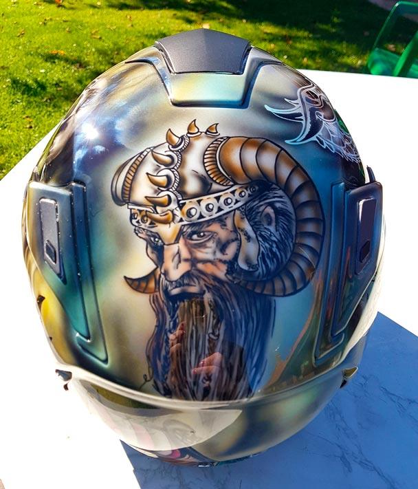 Casque Peinture Viking
