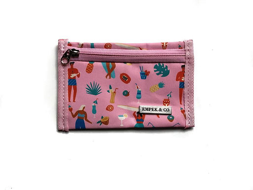 WALLET POUCH - tropical pink