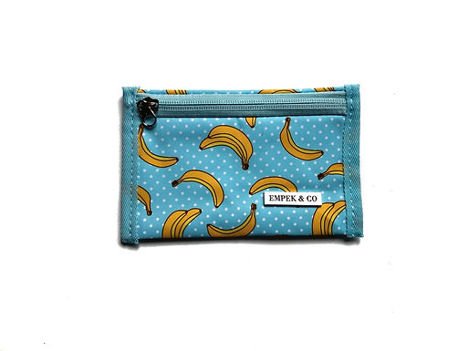 WALLET POUCH - banana turquoise