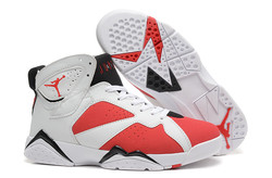 Air jordan 7 man white black red.jpg
