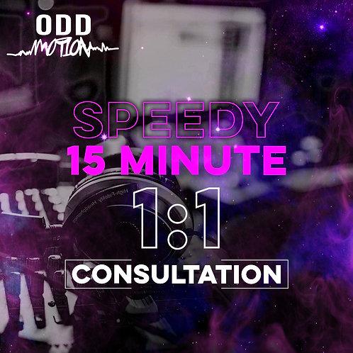 Speedy 15 Minute 1:1 Consultation