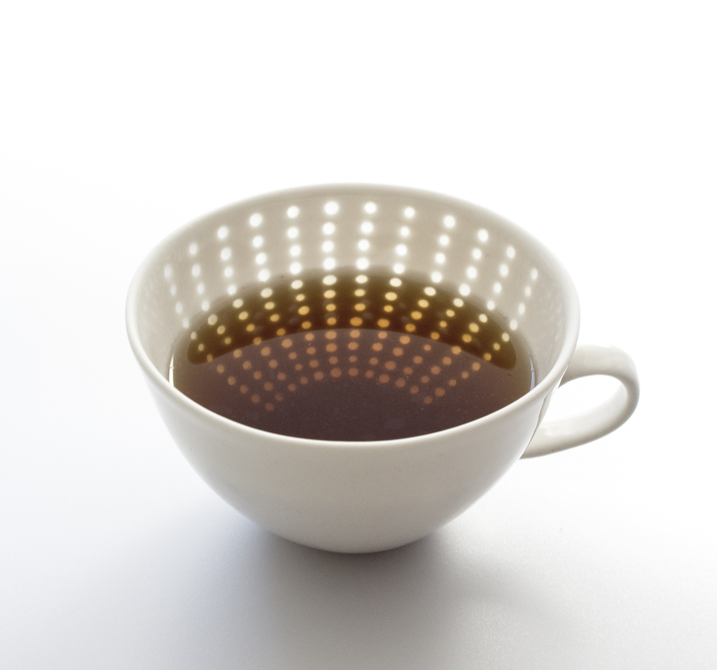 Teacup with Block pattern