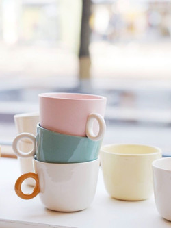 Teacups stacked