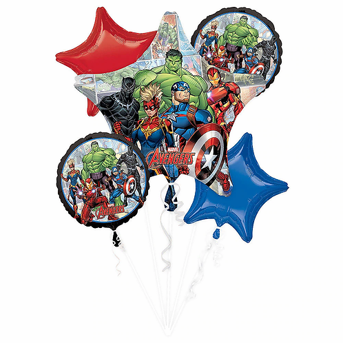 Avengers  5 Pc Balloon Bouquet