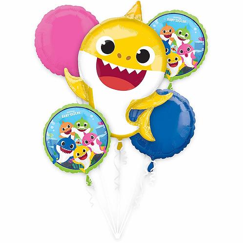 Baby Shark  5 Pc Balloon Bouquet