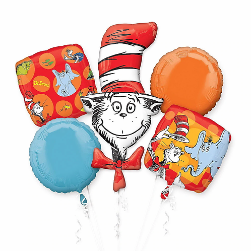 Dr. Seuss 5 Pc Balloon Bouquet
