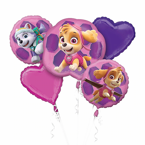 Pink Paw Patrol 5 Pc Balloon Bouquet
