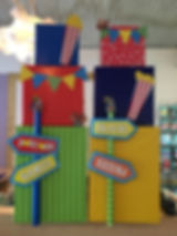 Carnival themed 4ft Towers