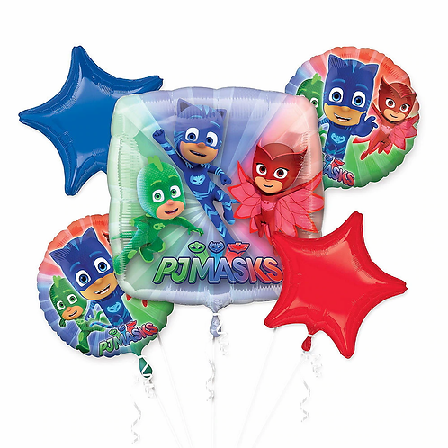PJ Mask 5 Pc Balloon Bouquet