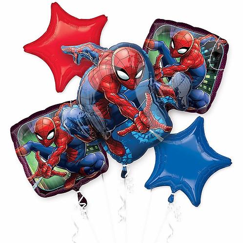 Spiderman 5 Pc Balloon Bouquet