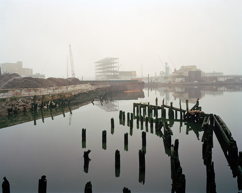 Pier remains from the Long Island Rail R