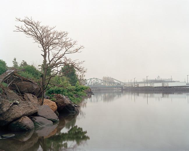 Newtown Creek shoreline from Linden Hill