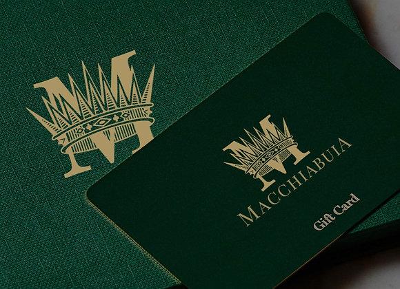 Macchiabuia Gift Card
