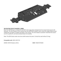 HB RACING D819 CHASSIS (-2MM)