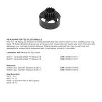 HB RACING VENTED CLUTCHBELLS