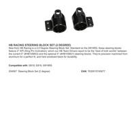 HB RACING STEERING BLOCK SET (2 DEGREE)