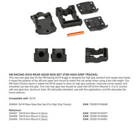 HB RACING D418 REAR GEAR BOX SET (FOR HIGH GRIP TRACKS)