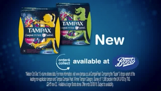 TAMPAX : BOOTS TAG