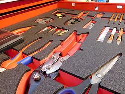 Harschaumeinlage für Werkzeuge