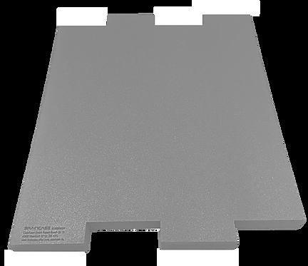 Eine Tischtrennwand BRAINCASE Medium als Ergänzung 690x590x45mm in hellgrau