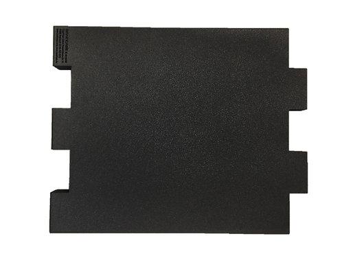Eine Tischtrennwand BRAINCASE Small als Ergänzung 610x495x45mm in schwarz