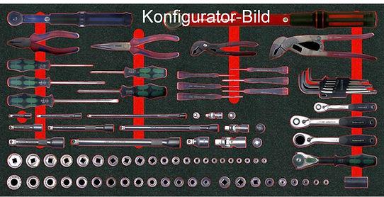 Konfigurator-Bild einer Hartschaumeinlage
