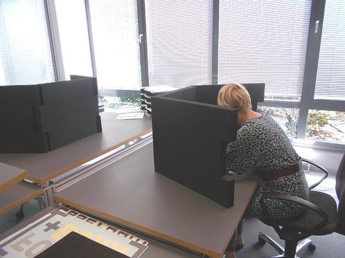 3 Tischtrennwände Braincase Small 610x495x45mm In Schwarz Aus Pe Hartsch