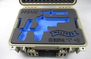 Pistolenkoffer mit Shaumstoffeinlage