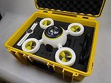 Drohne in Schaumstoffkoffer