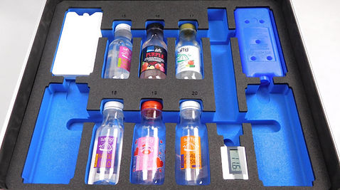 Schaumstoffeinlage für gekühlte Lebensmittel