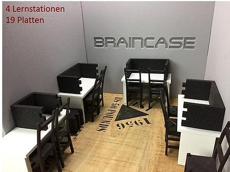 Braincase Tischtrennwand 4 Lernstationen